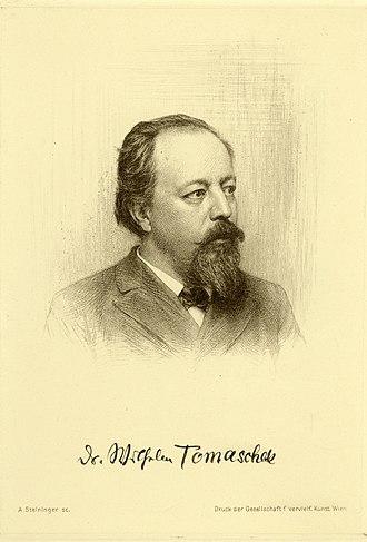 Wilhelm Tomaschek - Wilhelm Tomaschek