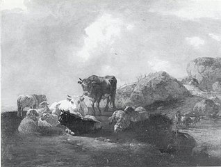 Cattle Resting at a River Crossing