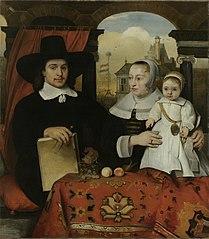 Willem van der Helm (ca 1625-75). Municipal architect of Leiden, with his wife Belytgen Cornelisdr van de Schelt and their son Leendert