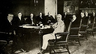 Woodrow Wilson and his cabinet in the Cabinet Room