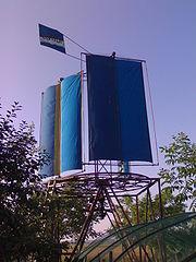 12 m Windmill with rotational sails in the Osijek, Croatia