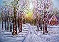 Winter, Landschaft aquarelle krismat Krystyna Matuschowitz.jpg