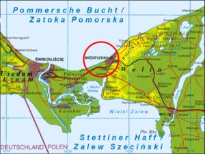 Międzyzdroje - Image: Wolin mapa Miedzyzdro