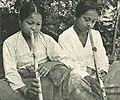 Women playing the flute, Makassar, Wanita di Indonesia p111 (JB Hingert for Tropen Institute).jpg