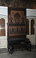 Wooden Bench & Cane-work Wall Panel - Living Room - Acharya Bhaban - Kolkata 2009-08-14 1048.jpg