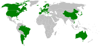 World Esperanto Congress - Countries that have hosted the UK, 1905–2016