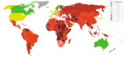 Transparency International's overview of the index of perception of corruption, 2005