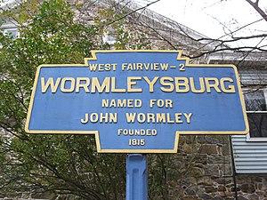 Wormleysburg, Pennsylvania - Image: Wormleysburg, PA Keystone Marker