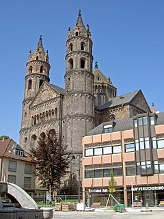 Worms Cathedral Church in Rhineland-Palatinate, Germany