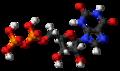 Xanthosine diphosphate molecule ball.png