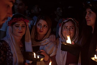 Yazdânism - Yazidi new year at Lalish temple, Iraqi Kurdistan