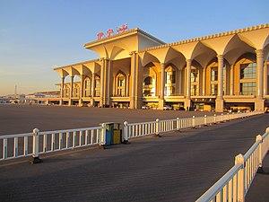 Jinghe–Yining–Khorgos Railway - Yining train station.