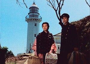 Yorokobi mo kanashimi mo ikutoshitsuki - Hideko Takamine and Keiji Sada in the film Yorokobi mo kanashimi mo ikutoshitsuki (1957)