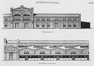 Zentralviehof kombinierter Rinder- und Hammelstall [Public domain], via Wikimedia Commons