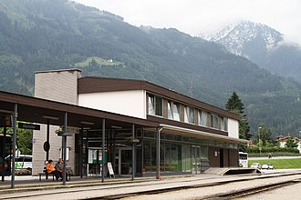 Mayrhofen - the Mayrhofen im Zillertal train station