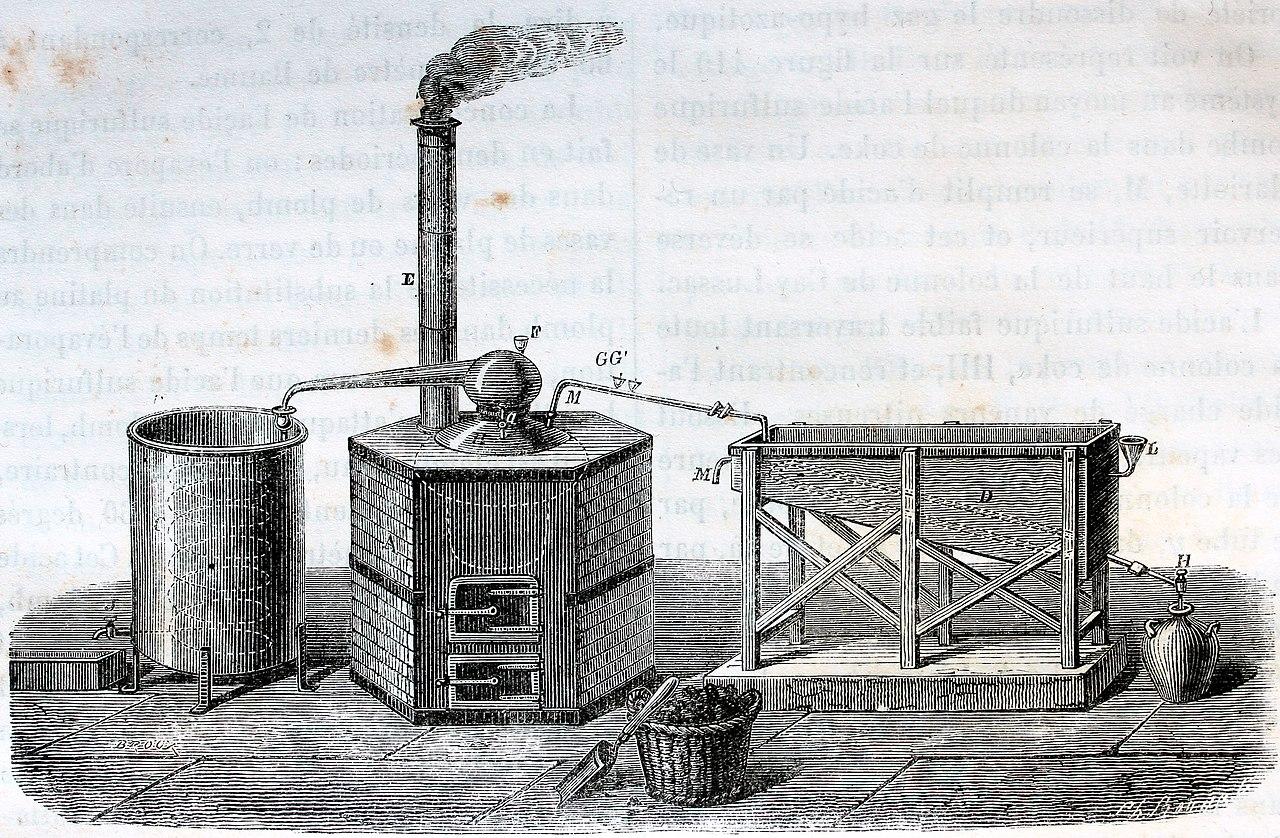 file alambic de platine pour la concentracion de lacide sulfurique jpg wikimedia commons. Black Bedroom Furniture Sets. Home Design Ideas
