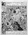 """Battle Scene"", Folio from a Zafarnama (Book of Victories) of Sharaf al-Din 'Ali Yazdi MET 131652.jpg"