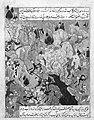 """Battle Scene"", Folio from a Zafarnama (Book of Victories) of Sharaf al-Din 'Ali Yazdi MET 131652.jpg"