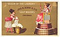 """""""Queen of the laundry"""" Jas. S. Kirk & Co. soap makers Chicago LCCN2004666587.jpg"""