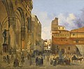 'Florence, A View of the Piazza della Signoria with the Loggia dei Lanzi at Left' by Ippolito Caffi.jpg