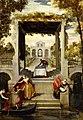 'Garden in a Venician Villa', painting by Benedetto Caliari, 1570-1580, Academia Carrara (Bérgamo, Italy).jpg