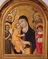 'Madonna & Child with Six Saints' by Sano di Pietro, Lowe Art Museum.JPG