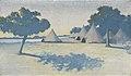« Fort-Desaix » ou « Fort-Desaix (Expédition Marchand) » ou « Huttes au bord de l'eau » Par Alphonse Osbert . 1900.jpg