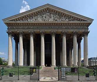 Empire style - Église de la Madeleine in Paris, a Temple to the Glory of Napoleon's Grande Armée