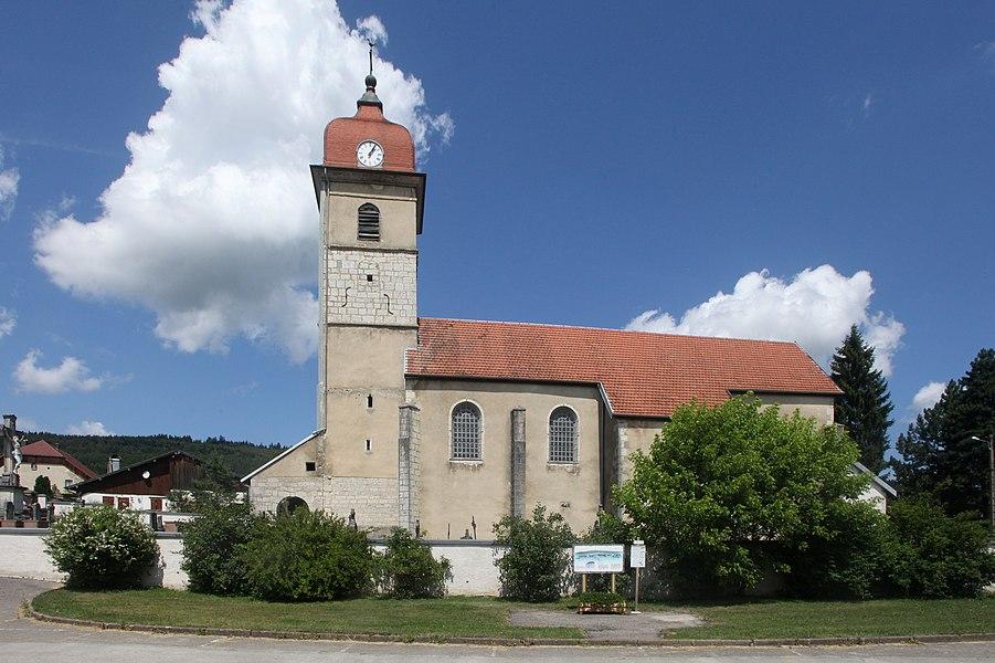 Église d'Évillers (Doubs).