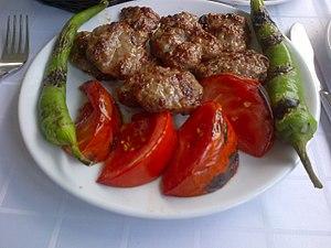 İnegöl meatballs - Image: İnegöl köfte