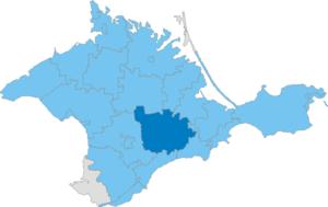 Bilohirsk Raion - Image: Карта схема Крыма Белогорский район
