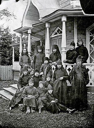 Mari people - Mari orthodox monks and novices. 1894