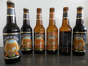 Taybeh beer bottles