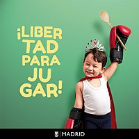 Freedom to play. Campaign of the Madrid City Council