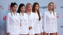 Itzy at Genie Music Awards in 2019, where they won Best New Artist.