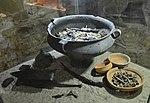 02016 Hasdingisches Männerbrandgrab aus Prusiek, Przeworsk Kultur, Ost-Beskiden, ausgestellt im Archäologischen Museum in Sanok.jpg