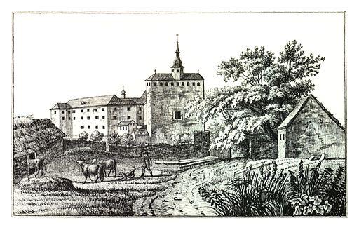 059 Schloss Gleichenberg - Kuwasseg, lith. v. Folwarczni - J.F.Kaiser Lithografirte Ansichten der Steiermark 1830