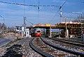 061R05201079 Wagramerstrasse – Schüttaustrasse, Bau der U Bahnstation Kaisermühlen, Strassenbahn Linie Bk, Typ E1.jpg