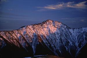 Mount Warusawa - Image: 06 Warusawadake from Kogochidake 1999 11 5