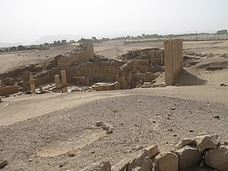 Solomon in Islam - Ruins of a temple at Ma'rib, the former capital of Saba' in what is now the South Arabian country of Yemen