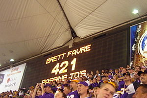 2007 Green Bay Packers season - Brett Favre broke Dan Marino's TD pass record during Week 4 at the HHH Metrodome