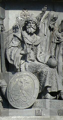 Фигура Ивана Великого на памятнике Тысячелетие России