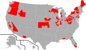 Republican Main Street Partnership - Map of House caucus members during the 115th Congress