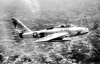 116th Air Control Wing - 128th Fighter-Interceptor Squadron General Motors F-84F-40-GK Thunderstreak, AF Ser. No. 51-9520