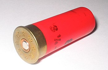 Photograph of 12 gauge shotgun shell