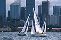 141100 - Sailing Australia 3 person keelboat action 12 - 3b - 2000 Sydney race photo.jpg