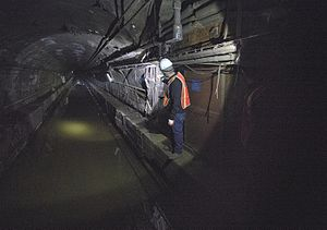 BMT Canarsie Line - Tunnels flooded by Hurricane Sandy