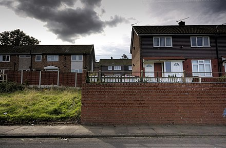 The empty plot where 16 Wardle Brook Avenue in Hattersley once stood. Manchester City Council decided in 1987 to demolish the house. 16 wardle brook avenue.jpg