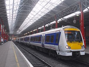 British Rail Class 172 - A pair of Chiltern Railways Class 172/1 No. 172104 and No. 172102 at London Marylebone