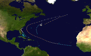 1853 Atlantic hurricane season - Image: 1853 Atlantic hurricane season summary map